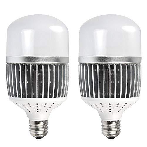 MENGS 2-er Pack CL-Q50W Hohen Lumen E40 LED Globus Lampe 50W LED Licht Ersatz für 400W Halogenlampen Neutralweiß 6500LM AC 85-265V