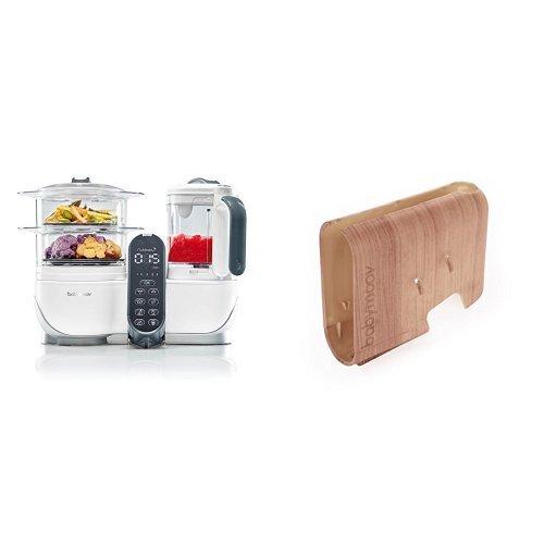 Babymoov Nutribaby (+) loft white - Multifunktions Küchenmachine + Babymoov Displaygehäuse Nutribaby (+) Holz-Effekt