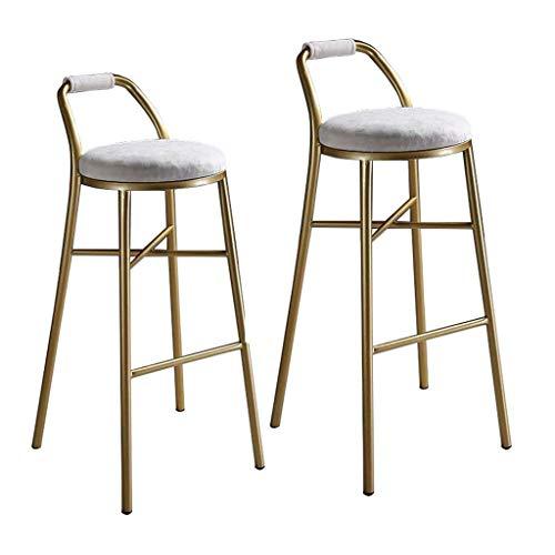 MTCGH Stühle, Hochstühle, Barstühle, Hocker Barhocker 2 Stück/Präziser Barhocker Zum Frühstück, Café, Zähler, Küche Und Esszimmer, Eisenstuhl,75 cm,75 cm