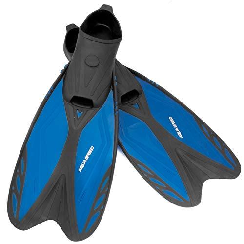 Aqua Speed Taucherflossen   Schwimmflossen für Mädchen & Jungs   Schnorchelflossen Teenager   Flossen   Schwarz - Blau   Gr. 36-37   Vapor