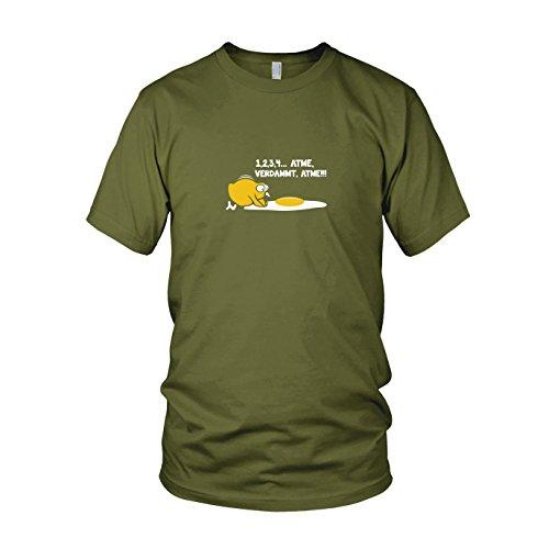 Atme verdammt - Herren T-Shirt, Größe: L, Farbe: Army