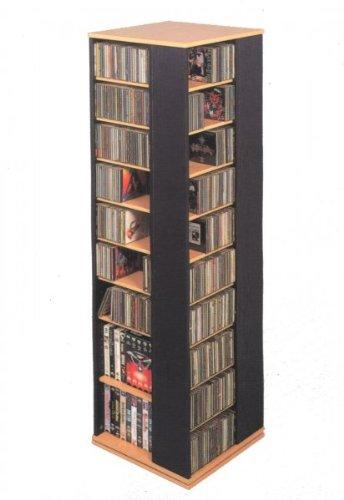 Leslie Dame High Capacity Spinning Multimedia Storage Tower, Black
