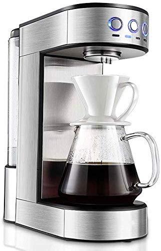 Busirsiz Simple Mr. Coffee Brew Cafetera 15 Taza de café de la máquina | Goteo Cafetera Decoración de Acero Inoxidable con el pote del café for la Oficina en casa Y (Negro)