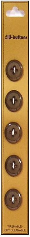 Dill Buttons 14mm 5pc Latest item 4 Hole Excellent Brown