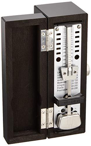Wittner 903032 Metronomo Super Mini Cassa Legno Colore Nero Opaco