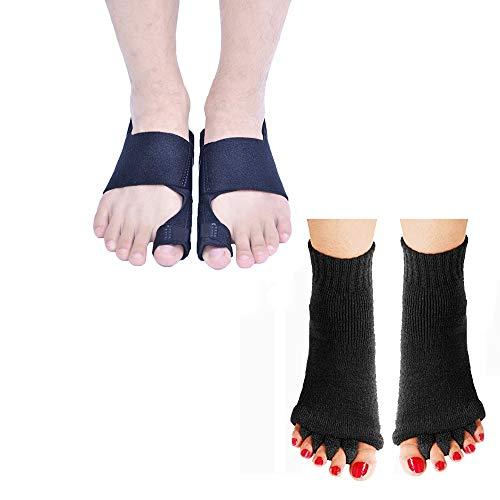Bunion Corrector for Men and Women, Orthopedic Bunion Splint, Big Toe Separator Pain Relief, Hammer Toe Straightener(with a pair of Toe Separator Socks)