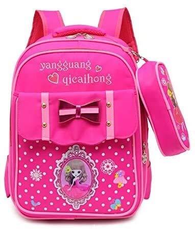 Social Liuzi Boy's Schoolbag Cute Girls Schoolbag Shoulder Bag Girls Primary School 2-3-4-6-grade Girl Child Care Burden Ridge Social Liuzi (Color : 3)