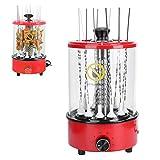 GOTOTOP - Barbacoa de mesa eléctrica vertical, parrilla para barbacoa con temporizador, electrodomésticos de cocina para barbacoas multifunción para barbacoas verticales, 12 pinchos (220 V)
