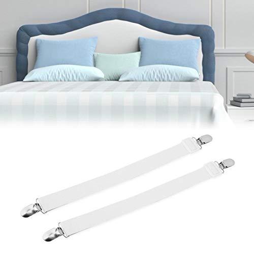 Emoshayoga Clip para sábana Libre para Ajustar Alta Elasticidad Buena extensión Nylon y Acero Inoxidable Nuevo para sábana Larga Vida útil(White)