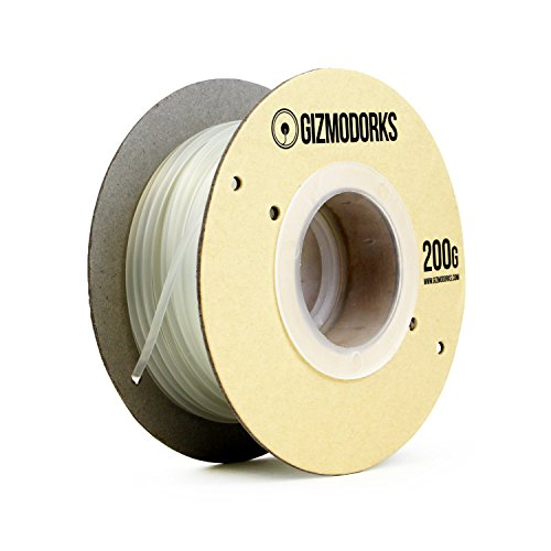Gizmo Dorks PLA Filament for 3D Printers 3mm (2.85mm) 200g, Transparent