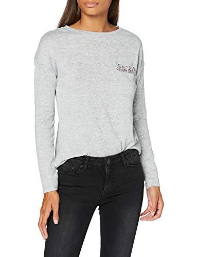 Springfield 2.Pv20.Bolsillo Chanel-C/48 Camiseta, Gris (Light_Grey/Silver 48), XS (Tamaño del Fabricante: XS) para Mujer