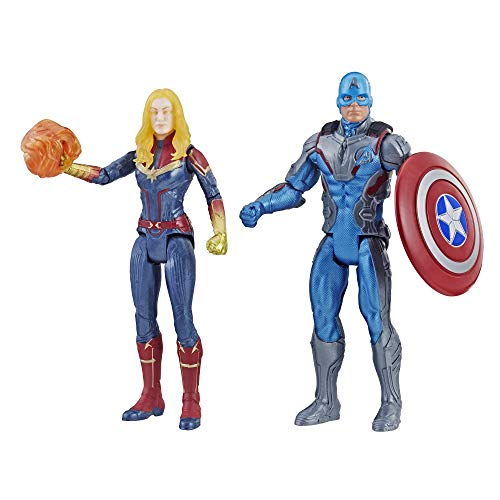 Marvel Avengers Endgame Captain America & Captain 2 Pack Characters from Cinematic Universe Mcu Movies