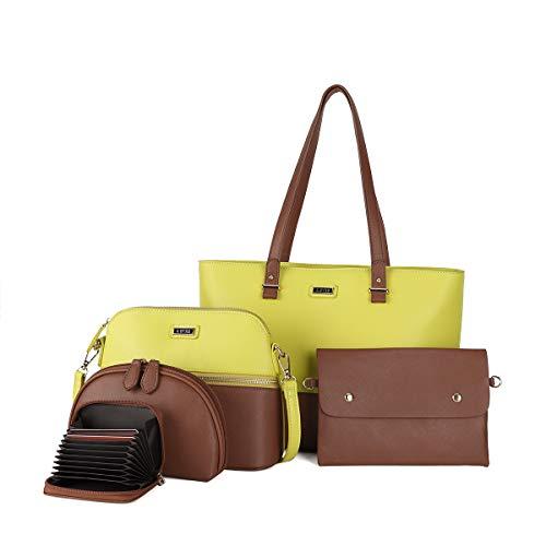 (80% OFF Coupon) Satchel Handbag 5pcs Set $27.20