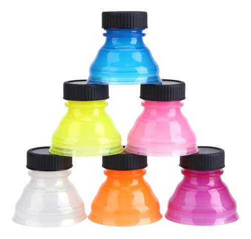 2Esse Set 6 Pezzi Tappo LATTINA A Scatto Colori Assortiti - Tappo per lattine, in plastica, 6,5 x 18,5 x 13 cm, Colore: Multicolore