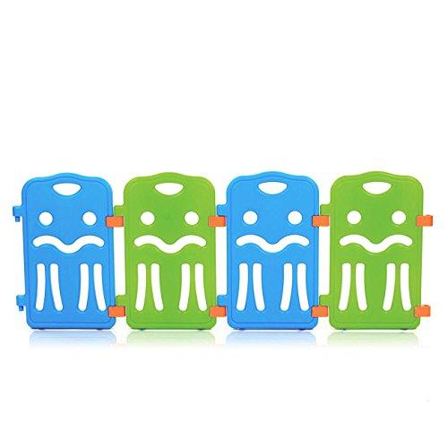 Baby Vivo Zusatpaket Laufgitter Baby Absperrgitter Krabbelgitter Schutzgitter für Kinder aus Kunststoff mit Tür und Spielzeug - Colors erweiterbar