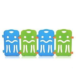 Baby Vivo Parque corralito plegable puerta robusto plastico bebe barrera de seguridad jugar Colors de Plástico - Paquete adicional