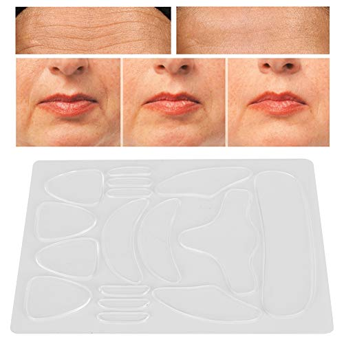 Almohadillas de silicona antiarrugas de 16 piezas adhesivo antiarrugas para la cara levantamiento facial eliminación de arrugas parches reafirmantes estiramiento de la piel facial