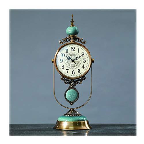Reloj de escritorio retro El reloj de tabla Inicio / moda, Retro / creativas, escritorio reloj de péndulo / Sala de estar mesa de despertador, Reloj de la chimenea, 18.9 pulgadas, verdes Decoración de