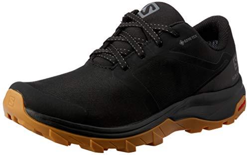 SALOMON Outbound GTX W, Walking Shoe Womens, Black/Black/Gum1a, 39 1/3 EU