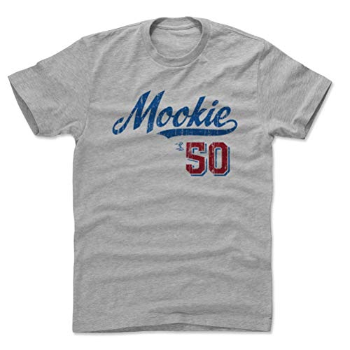 500 LEVEL Mookie Betts Shirt (Cotton, Medium, Heather Gray) - Los Angeles Men's Apparel - Mookie Betts Script