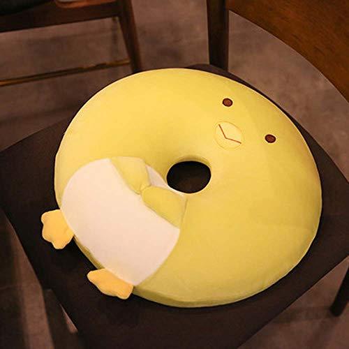 Hopsd Oficina Japonesa De Cojín Gato Lenta Silla De Rebote Engrosamiento Cojín Mujeres Embarazadas Caderas Nalgas Esteras para Enviar Regalos Niñas,A