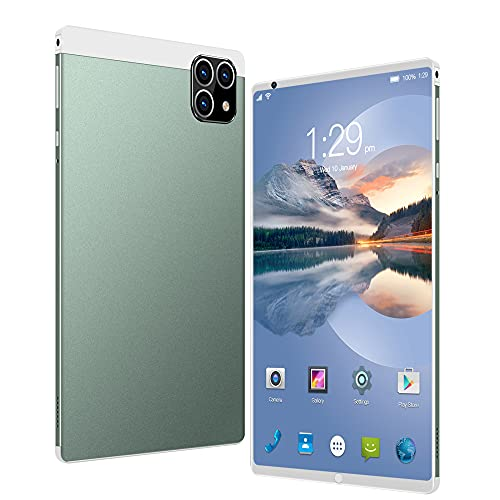 LINGOSHUN Tableta Android 6.1, Pantalla HD de 800 * 1280, Procesador Octa-Core, RAM 1GB, ROM 16GB, 2MP + 2MP, Batería Grande de 4000mAh / Verde / 8 inches
