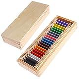 ELKeyko Montessori Matière sensorielle Tablette de Couleurs d'apprentissage 1/2/3 Bois préscolaire entraînement...