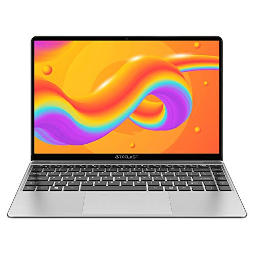 TECLAST F7Plus Ordenador Portátil 14.1' FullHD (8GB RAM 256GB SSD, Intel Gemini Lake N4100, Intel UHD Graphics 600, Windows 10, Teclado Iluminado) Espacio Gris, Teclado QWERTY