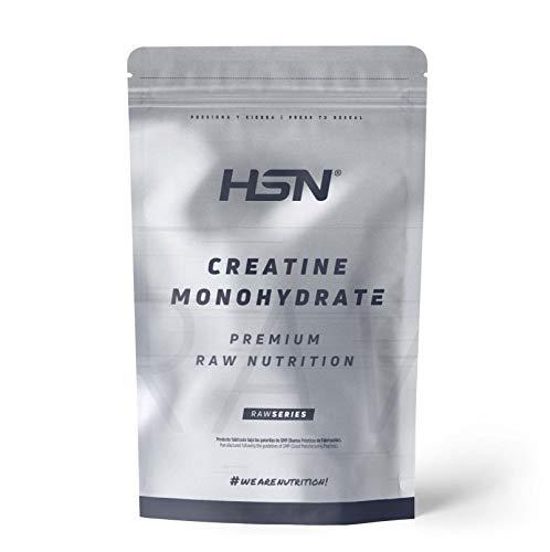 Creatina Monohidrato Micronizada en Polvo de HSN | Aumenta tu Rendimiento Deportivo, tu Energía y tu Masa Muscular, Retrasa la fatiga | Vegano, Sin Gluten, Sin Lactosa, 1 Kg
