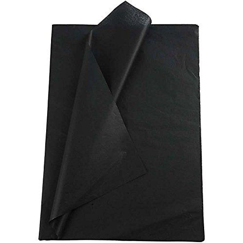 Creavvee® Decoupage Seidenpapier 50x70 cm, Schwarz 25 Bögen