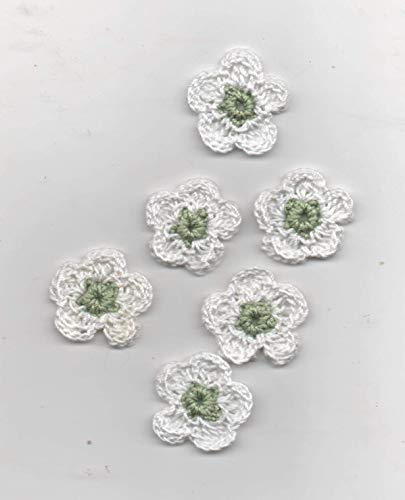 Häkelblüten, sehen aus wie der Frühling oder ihr Blumenbeet-als Aufnäher/Streublumen/Geschenkanhänger