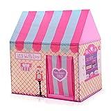 C-J-Xin La tienda de juego, Tienda de campaña Castillo chica Dollhouse Decorativo for Carpa Fiesta de la familia campamento de verano al aire libre cubierta de atracciones Parque Hut Tiendas de campañ