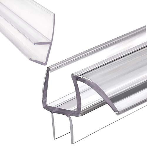 MAGZO Glass Shower Door Seal Strip Set (3/8''x 36''), Shower Door Bottom Sweeps with Drip Rail Stop...
