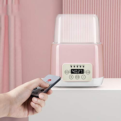 Babyflessenwarmer, 3 in 1 Elektronische baby flessenwarmer for het verwarmen van melk, fles sterilisator, Boiling Egg, steriliseert, Verwarming (Color : Pink)