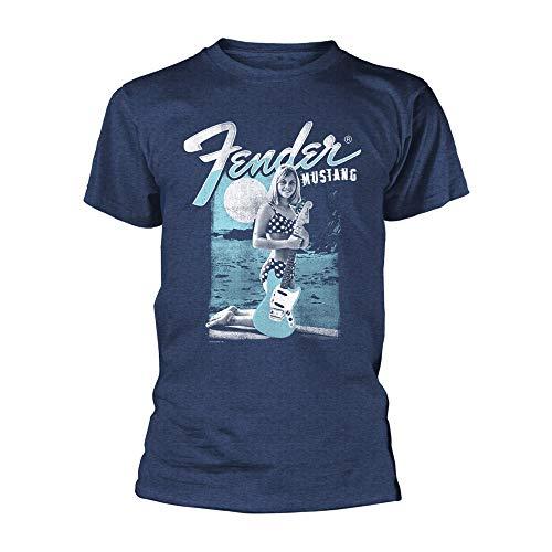 Fender 'Mustang Girl' (Blue) T-Shirt (Extra Large)