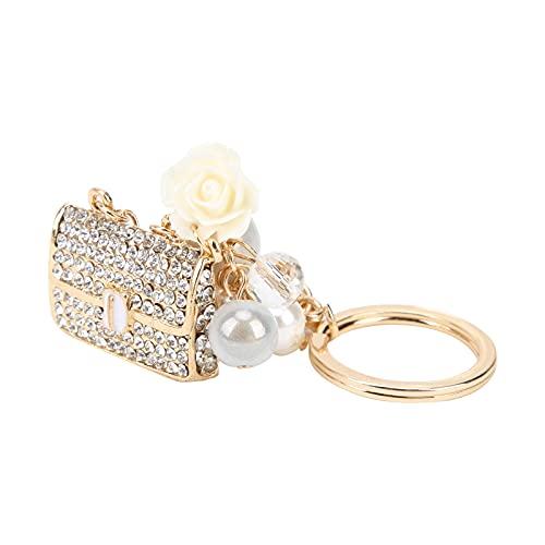 TOPINCN Llavero de Diamantes de imitación, Llavero Colgante Aspecto Elegante y Hermoso Hecho de aleación de Zinc para la Vida Diaria para Banquetes, Fiestas de Baile, Fiestas