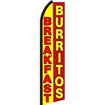 Breakfast Burritos Standard Size Swooper Feather Flag Sign by Business Needs