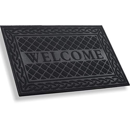 MIBAO Durable Door Mat, Heavy Duty Rubber Doormats, Welcome Mats, Indoor Outdoor, Non-Slip, Easy...