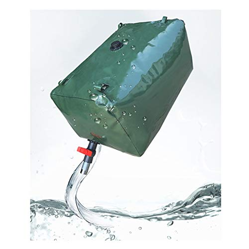 YJFENG Plegable Vejiga De Agua Portátil Transportador Depósito De Agua, Gran Capacidad Grado De Comida TPU Bolsa De Agua, para Acampar Parilla Irrigación, Resistencia A La Sequía