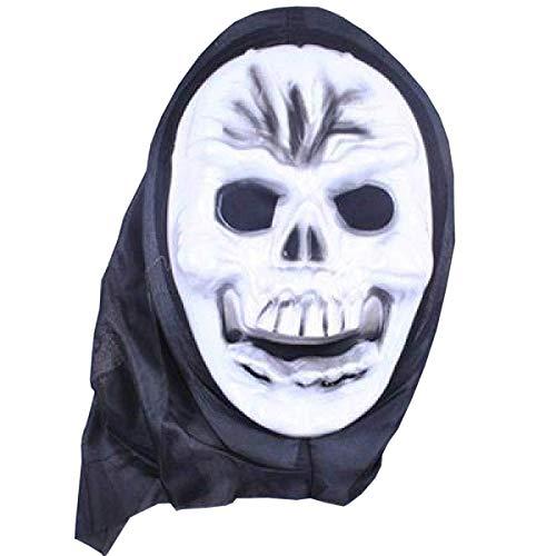 Maske Maskerade Prom Maske Latex Hölle Männliche Horrormaske Mit Geistern Halloween Kostüm Kopfbedeckung Skelett Mystisch Haunted Horror Halloween Theme