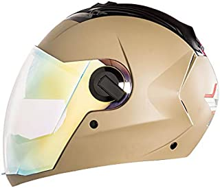 Steelbird SBA-2 7WINGS Night Vision Dual Visor Helmet in Matt Finish with Inner Chrome Visor/Outer Night Vision Visor (Large 600 MM, Matt Desert Storm)