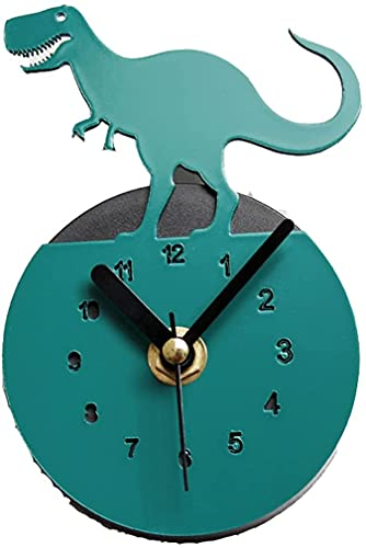JZTOL Moda Creativa Jurásico Dinosaurio Nevera Reloj Bosque Animal Refrigerador Mensaje Mensaje Etiqueta Magnética Decoración del Hogar Reloj De Pared, Naranja (Color : Green)
