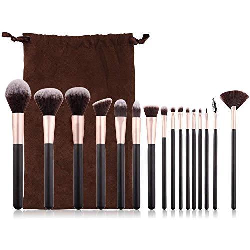 WEHQ Pinceaux de Maquillage, Maquillage 16pcs Brosse de pinceaux Professionnels Kit de Maquillage pour la Fondation des Yeux Fard à Joues Correcteur Poudre pour Le Visage pour Les Femmes