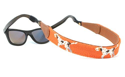 Retentor de alça de óculos de sol com costura costurada à mão da Huck Venture, Pointer Dog, One Size