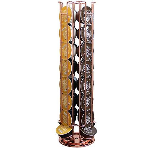 Porte-dosettes -Support à Pod Dolce Gusto à 32 Pods - Roating 360 degrés, cuivre