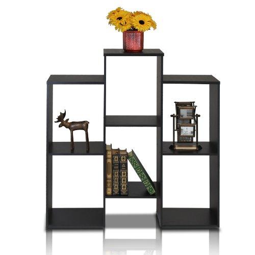 Furinno laptoptafel 12221bk Parsons Staggered Cube boekenkast met 6 planken, zwart