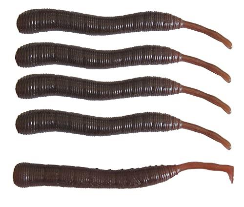 Dieter Eisele Wattwurm Doppelgänger 8cm - 5 künstliche Wattwürmer zum Meeresangeln, Gummiwürmer für Dorsche & Plattfische, Jigs