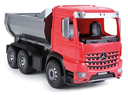 Lena 04610 - Worxx Muldenkipper Mercedes Benz Arocs, ca. 45 cm, Baustellen Spielfahrzeug für Kinder ab 3 Jahre, robuster Kipper LKW mit verriegelbarer Kippmulde und beweglicher Heckklappe