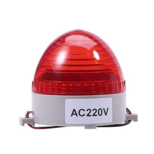 TB-60 DC 220V Lámpara de señal de destello roja Luz industrial brillante