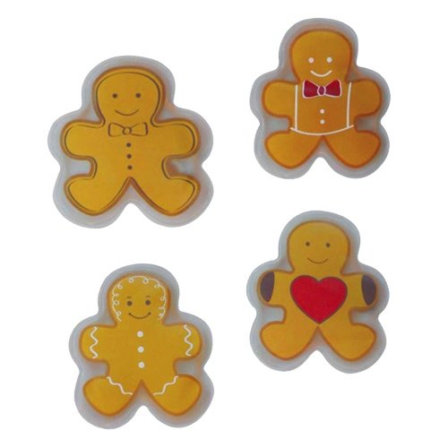 -Scaldamani/Ginger Bread Men 4Set da pezzi